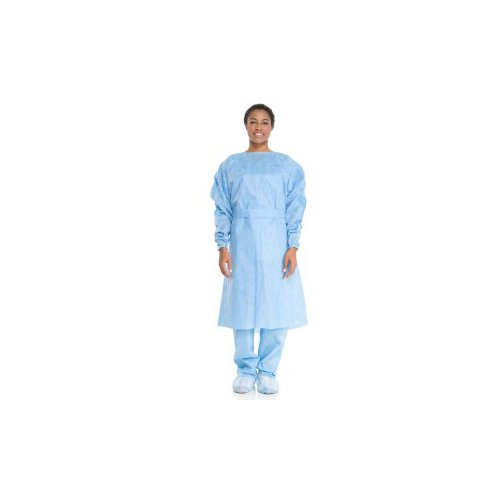 Halyard Health 69986 Tri-Layer AAMI2 Isolation Gown, 3-Layer SMS Fabric, Universal, Yellow (Pack of 10)