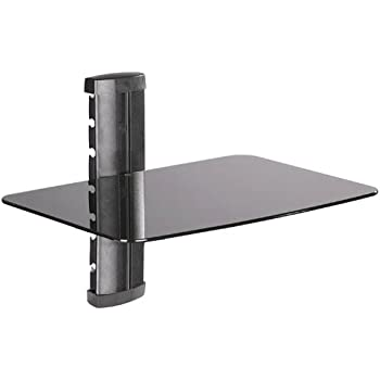 Amazon Com 1 Sh Under Tv Wall Mount Shelf For Dsl Modem