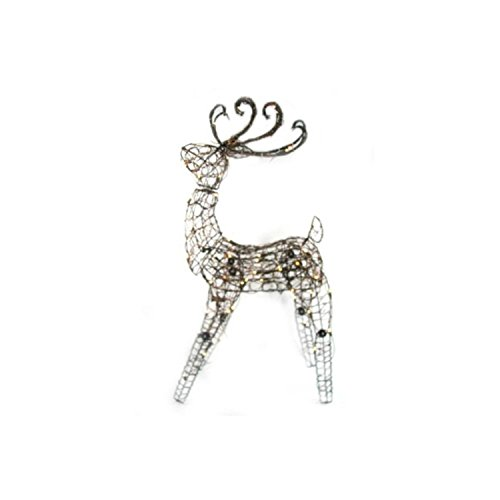Outdoor Lighted Grapevine Deer - 5