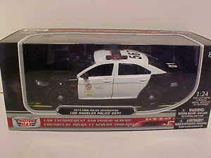 BHCAT LAPD 2013 Ford Taurus Police Interceptor Die-cast Car 1:24 Motormax 8 inch - Car Police Ford Taurus