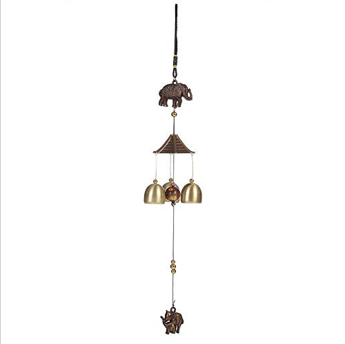 Home Retro Copper Elephant Wind Chimes Wind Chime Ringing Copper Bells Ringing The Courtyard Outdoor Indoor Bedroom Crisp