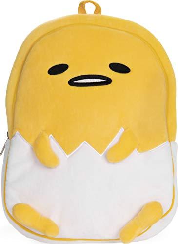 "GUND Sanrio Gudetama The Lazy Egg Backpack Plush, Yellow and White, 13"""