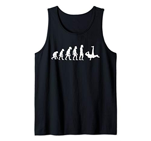 Funny Human Breakdancing Evolution Dancer Breakdancer Tank Top