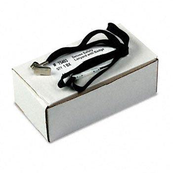 Advantus® Deluxe Safety Lanyard LANYARDS,NECK CLIP 24,BK AS-400 (Pack of2) - Advantus 75403 Safety Lanyard