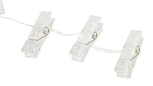 Boston Warehouse 10ft Light Strand with Photo Clips, 30 lights & (10' Through Wall Fan)