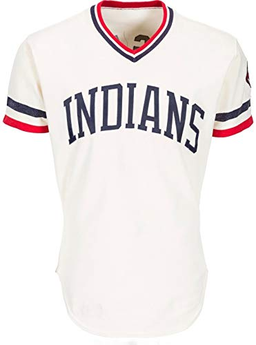 (MIKE HARGROVE 1979 VINTAGE CLEVELAND INDIANS GAME USED WORN HOME JERSEY WITH CHIEF WAHOO PATCH )