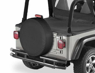 11 deep Bestop 61031-15 Black Denim X-Large Tire Cover for Tires 31 Diameter