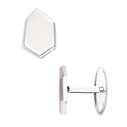 Silver Cufflinks Sterling Geometric (Silpada Cutting Edge' Stainless Steel Six Edged Cuff Links)