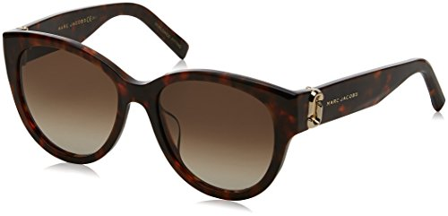 Marc Jacobs Women's Double J Cat Eye Sunglasses, Dark Havana/Brown, One - Sunglasses By Havana Jacobs Marc Marc
