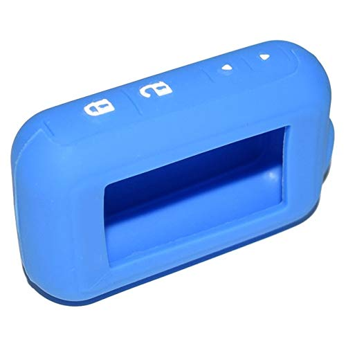 (ShineBear E90 E91 Silicone Case for Starline 2-Way Car Alarm E63 E90 E91 E61 E95 E66 LCD Remote Controller Keychain Transmitter - (Color Name: Blue))