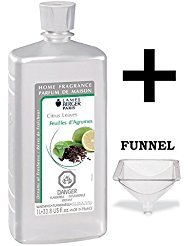 Spiced Green Tea Scent - Lampe Berger Fragrance - Citrus Leaves Oil - 33.8 Ounce with FREE Funnel