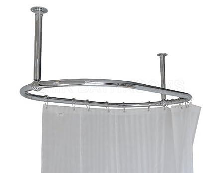 Oval Shower Curtain Rail Chrome