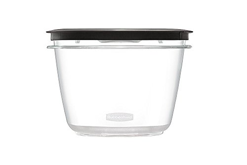 Rubbermaid Premier Food Storage Container, 7 Cup, Gray, Pack of 2