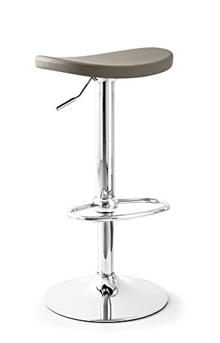 Connubia Calligaris Soul Barstool by Chromed metal structure, turtledove Ecoleather