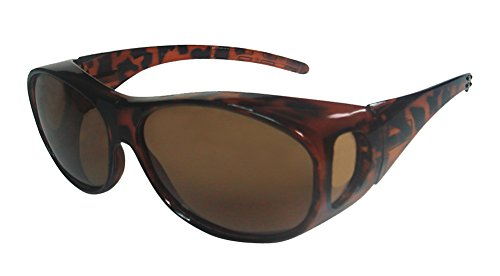 Rodeo M8 Fit Over Prescription Rx No Blind-spot Driver Wrap Around Polarized Sun Glasses (Copper Tone, - Glasses Over Walmart Sunglasses