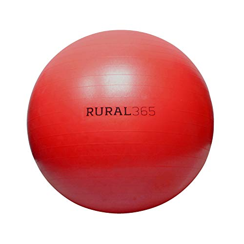 Rural365 Large Horse Ball Toy in Red, 30in Ball Anti-Burst Giant Horse Ball - Horse Soccer Ball, Pump Included
