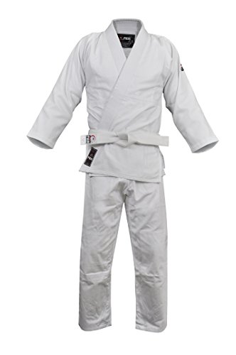 Fuji Judo Uniform, White, 4 Double Weave Judo Uniform