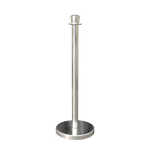 Rope Stanchion Set in 3 pcs, 72'' Black Velour Rope & Taper Top, Mirror Finished by Crowd Control Center (Image #1)