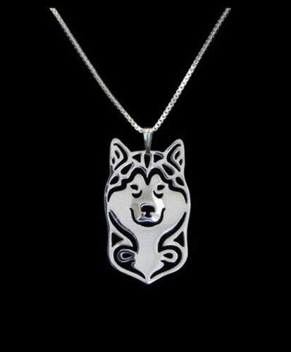 Alaskan Malamute Silver Charm Pendant Necklace, Dog Lover, Friend Gift