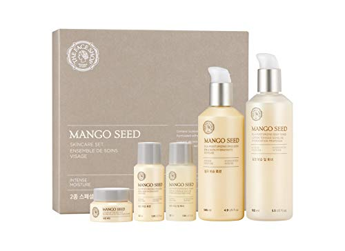 [THEFACESHOP] Mango Seed Skincare Set, Deep Moisturizing and Anti Wrinkle Effects - 5 pc