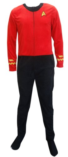 Star Trek Scotty Red Engineering Uniform Onesie Pajama (Medium) -