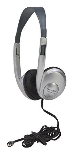 Califone 3060 AVS Adjustable Light-Weight Multi-Media Headphones, Silver ()