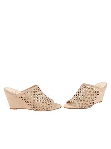 Sand Shoes Donna Sandalo Palazzo Pelle Scamosciata Nuda