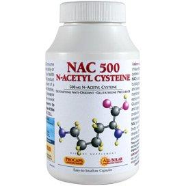 NAC-500 N-Acetyl Cysteine 180 Capsules