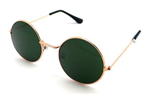 de 400 Hippie Sol Espejo UV Calidad Alta Gafas Redondas Sunglasses S5376 Verde dxpqCwd8