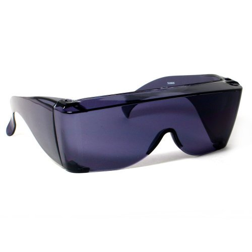 Calabria 3000 Large Square Over Safety Glasses UV Protection in Smoke by Calabria by Calabria
