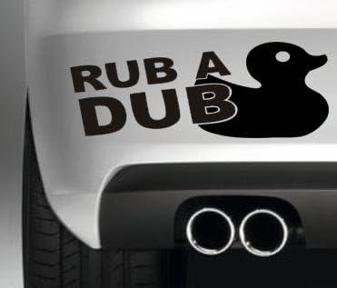 South Coast Stickers RUB A DUB DUCK CAR BUMPER STICKER FUNNY BUMPER STICKER CAR VAN 4X4 WINDOW PAINTWORK DECAL GRAPHIC