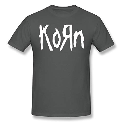 - JENNIFERHARRISON Korn Logo Men's Fashion Short Sleeve T-Shirts Deep Heather XL