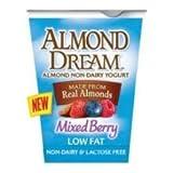 Almond Dream Non Dairy Low Fat Mixed Berry Yogurt, 6 Ounce - 12 per case.
