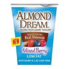 Almond Dream Non Dairy Low Fat Mixed Berry Yogurt, 6 Ounce - 12 per case. by Almond Dream