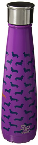 S'ip by S'well Vacuum Insulated Stainless Steel Water Bottle, Double Wall, 15 oz, Top Dog
