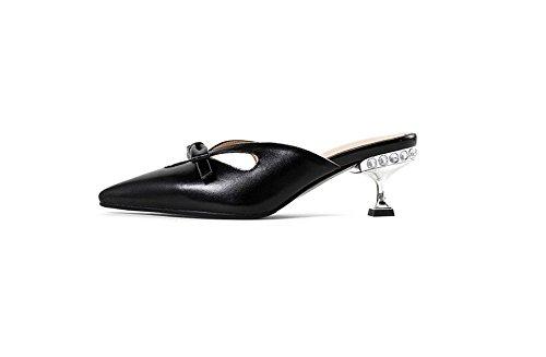 Zapatillas Tacón Señora Rhinestone Señaló Estilo A Con Sandalias De sandalias Bien Cool Weiwei wY4HxqOY