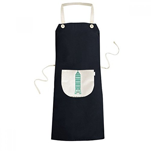 DIYthinker Taiwan Attractions 101 Building Travel Cooking Kitchen Black Bib Aprons With Pocket for Women Men Chef Gifts by DIYthinker (Image #4)