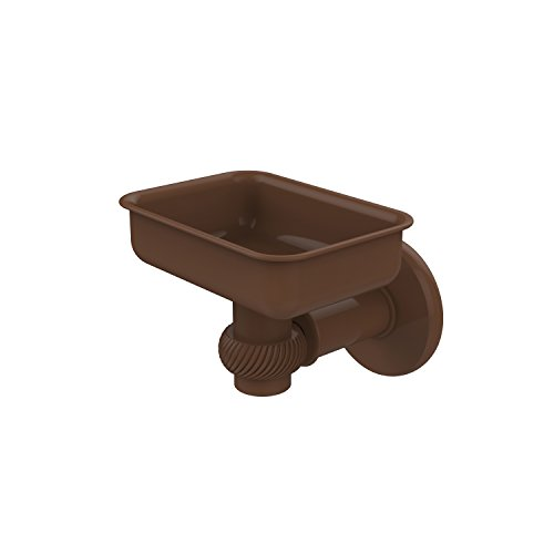Allied Brass 2032T-ABZ Continental Collection Wall Mounted Soap Dish Holder with Twist Accents, Antique Bronze