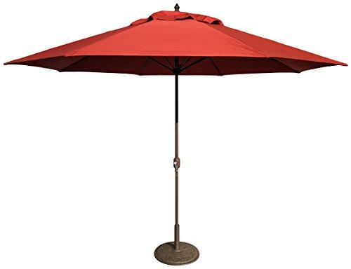 Tropishade 11' Umbrella with Premium Red Brick Olefin Cover (Sunbrella Premium Fabric)