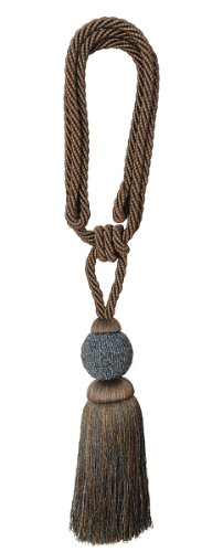 (India House 76155 Tieback Dholak Tassel, 9-Inch, Smoke Mix)