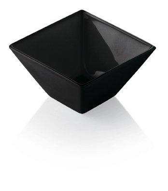 ality Glass - Square - Small - Black - Bowl - 4.25