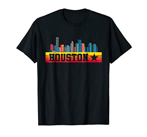 Houston Baseball Throwback Retro Astro Stripe 2018 Tee