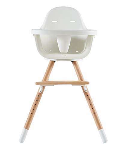 Asunflower Wooden High Chair for Baby Swivel Modern Highchair Wood Feeding Solution with Adjustable Tray for Toddler/Infant