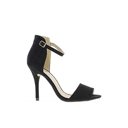 Sandales noires à talons de 10,5 cm