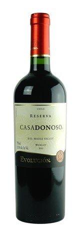 2015 Casadonoso Merlot Reserva, 750 mL - Chilean Wine, Red Wine, 100% Merlot - Maule Valley, Chile (Cabernet Sauvignon Argentina)