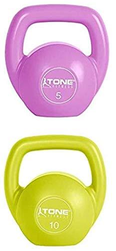 Fitness Set of Kettlebells - 2 Kettlebells - 5 lb and 10 lb