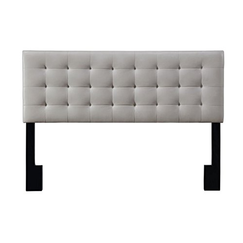 Pulaski  Square Tufted Upholstered Headboard, Cal King, Taupe