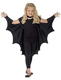 Smiffys Kids Unisex Vampire Bat Costume, Wings, Black, One Size, 44414
