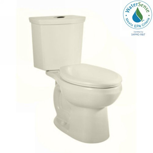- American Standard 2886.216.222 H2Option Siphonic Dual Flush Right Height Elongated Two-Piece Toilet, Linen