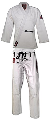 (ROLL HARD Brand Economy Brazilian Jiu Jitsu Kimono with Belt - White only (A2) )